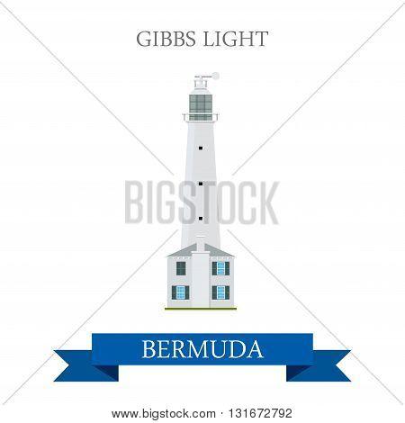 Gibbs Light in Bermuda vector flat attraction landmarks