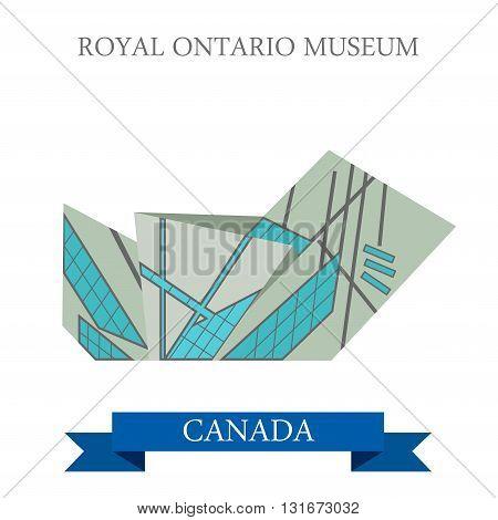 Royal Ontario Museum Toronto Canada vector flat attraction