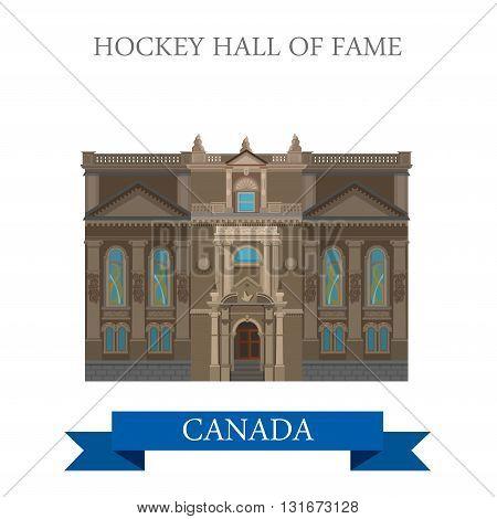 Hockey Hall of Fame Toronto Canada vector attraction landmark