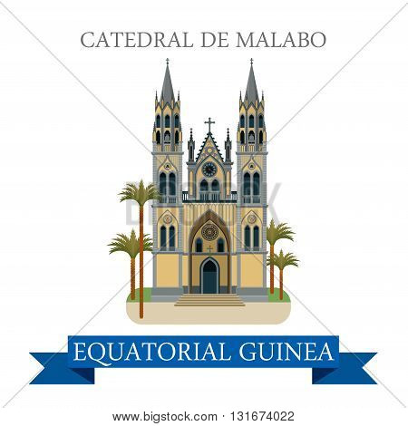 Catedral de Malabo Equatorial Guinea vector flat attraction