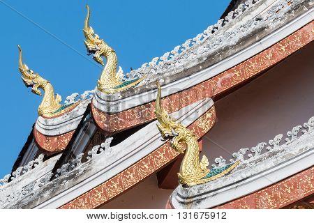 Haw Pha Bang Buddha temple of the National museum complex of Luang Prabang Laos.