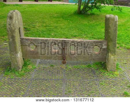 Medieval Punishment  Stocks used for punishing thieves or other minor crimials