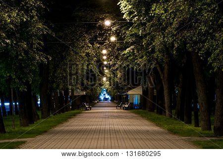 Konnogvardeisky Boulevard On The Night