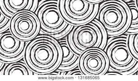 Seamless black and white texture with grunge circles. Vector background for websites brochures scrapbooking and for your creativity