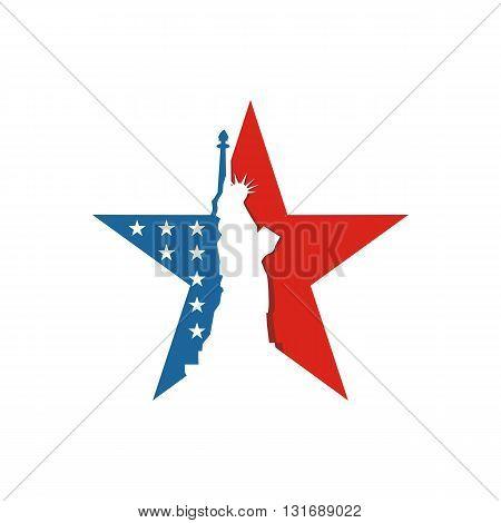 Abstract Design Logo American Flag logo Symbol Country Star Liberty Concept People Vector