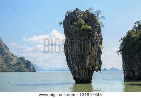 Beautiful landscape of James Bond Island or Koh Tapu in Phang Nga Bay Thailand