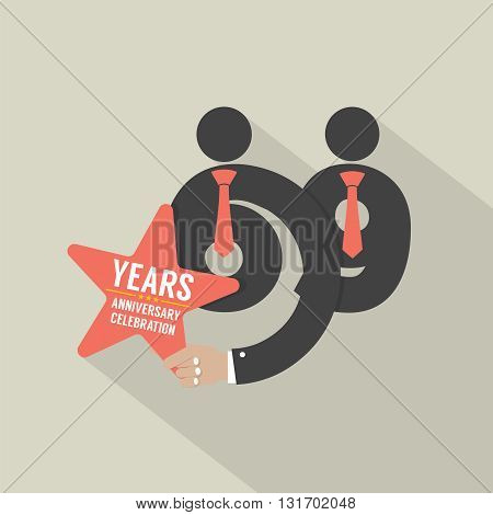 69th Years Anniversary Typography Design Vector Illustration. EPS 10