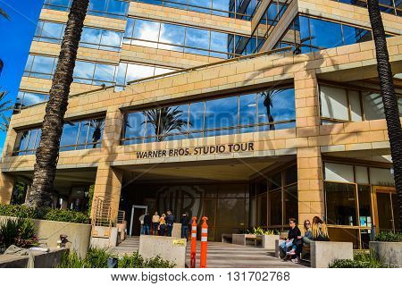 USA, California, Los Angeles, Hollywood, 17 Janua 2015: Outside views of the  Studio Warner Bros Los Angeles. Studio Tour Hollywood . New York Film Academy. palms Guckenheimer Enterprises Inc. TNT TBS