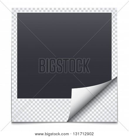 Black frame with checkered paper on white background.