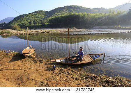 Boat on Ben Loi river, Nha Trang, Vietnam