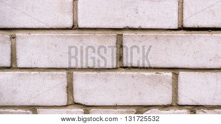 Wall from a white silicate brick, background, texture, white