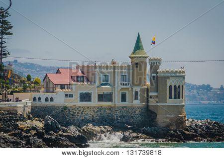 Vina Del Mar, Chile - November 01 2014: Wulff Castle In Vina Del Mar, Chile.