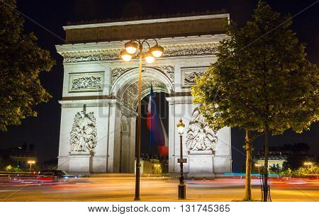 The Triumphal Arch is one of the most famous monument in Paris.It honors those who fought and died for France.