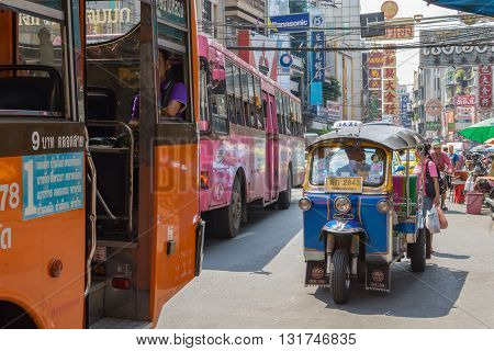 Thai Tuktuk Taxi And Bus