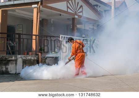 Fogging Ddt Spray Kill Mosquito