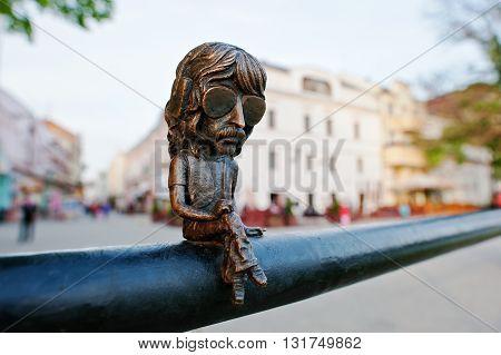 Uzhgorod,ukraine - April 11,2016: Mini Bronze Sculpture Of John Douglas Known As Jon Lord, Leader Of