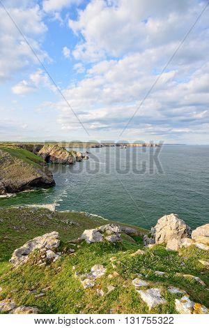 Pembrokeshire Cliffs In Wales