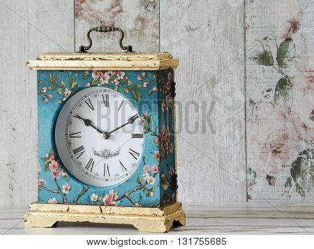 Beautiful Decoupaged Clock
