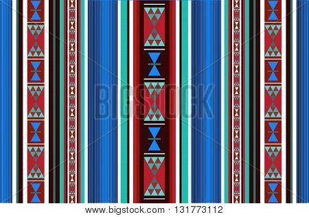 A Colorful Detailed Decorative Arabian Style Sadu Rug