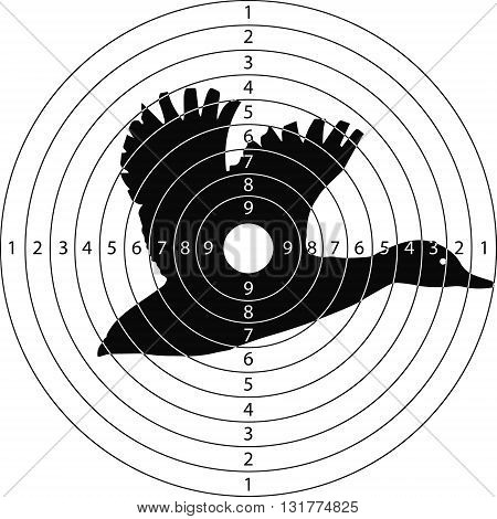 shooting target duck for the shooting range small arms made in the vector
