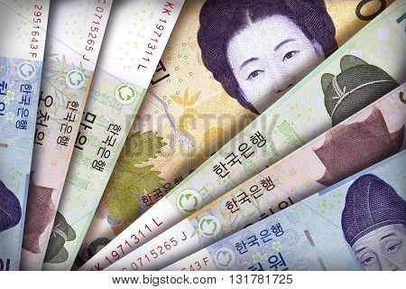 South Korean Won Background