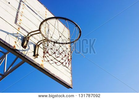 the Basketball hoop  for use as Background