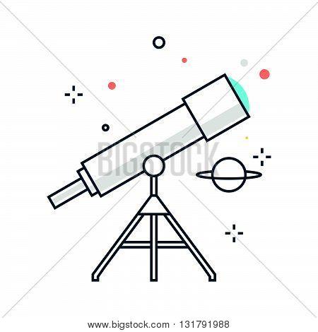 Color Line, Astronomy Illustration
