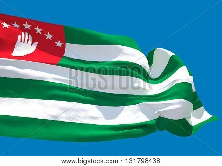 Abkhazia wave flag HD. Republic of Abkhazia