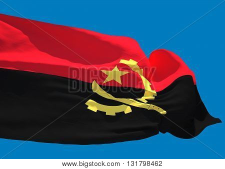 Angola wave flag HD Republic of Angola