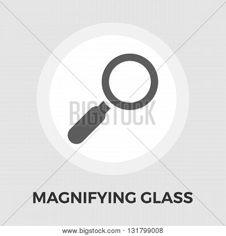Search icon vector. Flat icon isolated on the white background. Editable EPS file. Vector illustration.