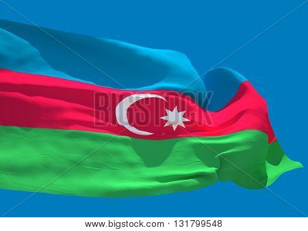 Azerbaijan wave flag HD Republic of Azerbaijan