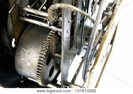 Gear in mechanism of the old clock