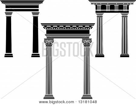 Classical column stencil set