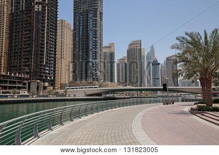 pier of district Marina in Dubai, UAE