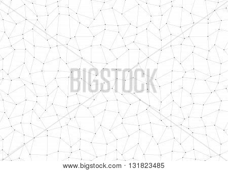 Dots with connections triangles light background  light line