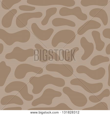 Camouflage ice coffee color seamless spots background vector illustration
