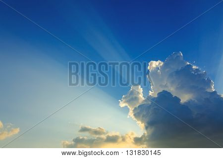 Beautiful Light On Clear Blue Sky