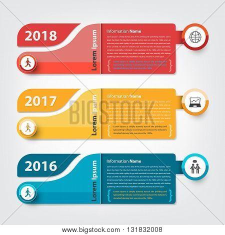 milestone and timeline business presentation (Vector eps10)