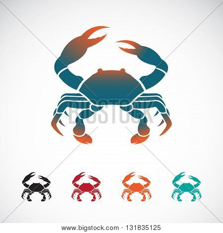 Set of vector crab icons design on white background