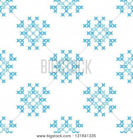 Isolated seamless texture. Abstract blue ornaments.Patterns for cloth. Embroidery.Cross stitch.