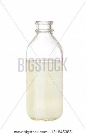 isolated retro bottle of milk on white