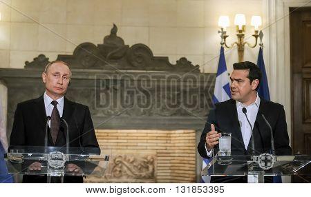 President Of The Russian Federation Vladimir Putin Visit To Greece