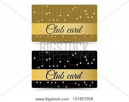 Club Card. Club Vip Card. Set Club Cards, Gift Cards.