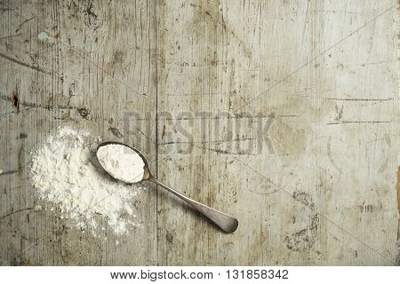 Flour On A Spoon Overhead