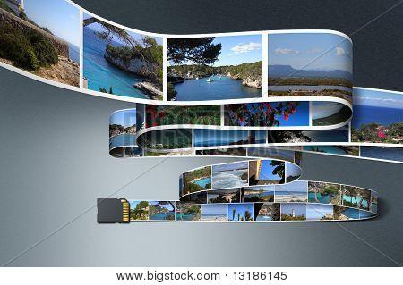 SD card saving Holiday Photos