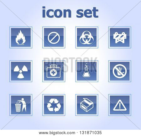 Glow buttons / icons sign and symbols