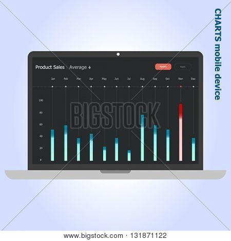 Notebook Infographic design