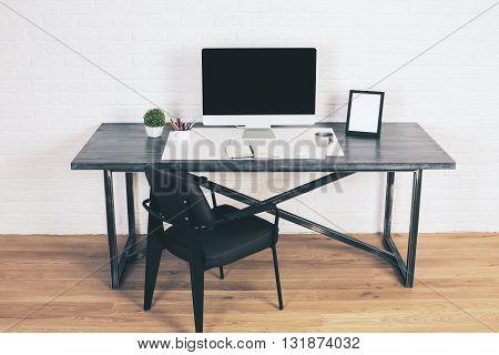 Designer Desk With Black Chair
