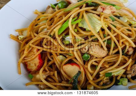 Asian Pasta With Seafood