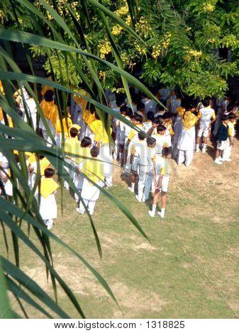 School Children On A Bright Day